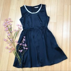 Modcloth navy with lace trim dress, S.